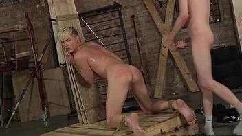 Most assuredly cute blond Kris is trained hard by big dick Ashton