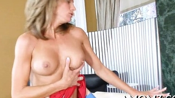 Older babe gives a avid ride