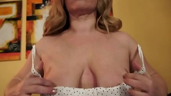 Alluring granny sucks and fucks cock