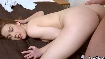 Ideal nympho blows dick in pov and gets pink pussy nailed