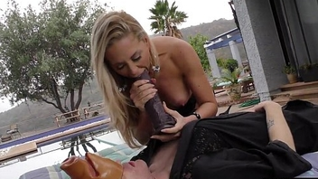 Cuckold watching his Hotwife Cherie DeVille having fun with a BBCC