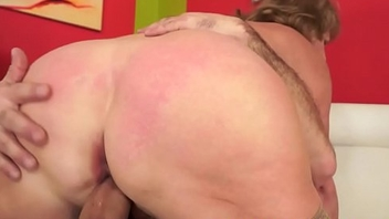Hairy grandma fucks in nylons