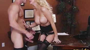 Sexy blonde Courtney Taylor office fuck
