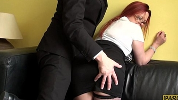 UK redhead sub doggystyled hard until spunked