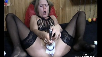 Double fisting blond MILFs  greedy loose pussy