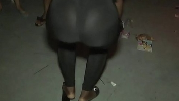 See-through leggings visible webbing booty 20