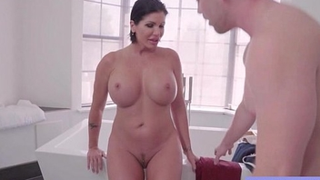Big Melon Tits Housewife (Shay Fox) Enjoy Hard Sex On Camera clip-25
