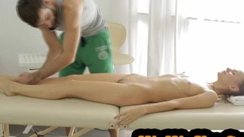 WaWxXx.Com -  Passionate massage table fuck  Hardcore porn missionary doggystyle