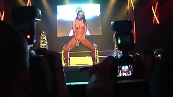 sexy strip show on public stage