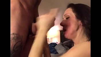 Blowjob with spunk fountain